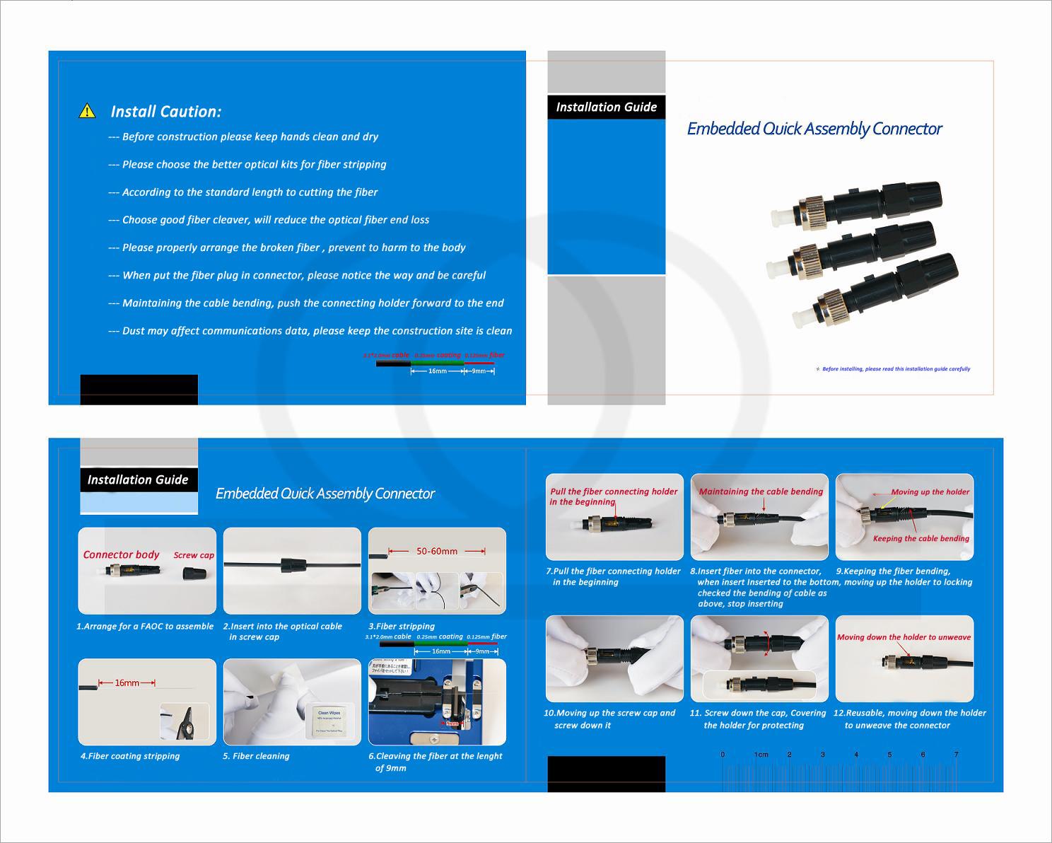 Instrukcja montażu szybkozłącza optycznego mechanicznego