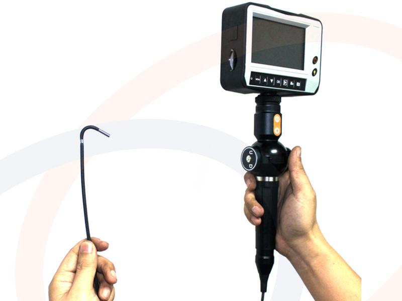 profesjonalny endoskop kamera inspekcyjna z ekranem 4 5. Black Bedroom Furniture Sets. Home Design Ideas